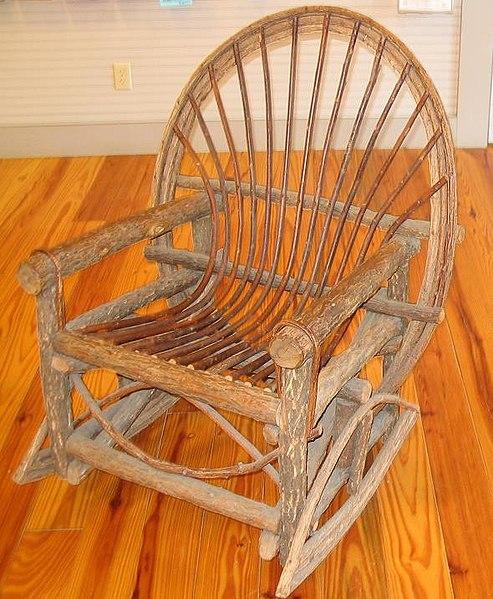 File:Rough wood rocking chair.jpg