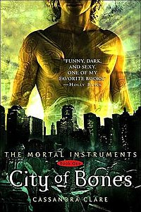"First Edition cover for the book, ""City of Bones"""