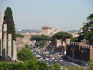 Via dei Fori Imperiali, seen from the Colosseu...