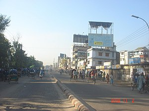 Beginning of Mymensingh Dhaka Road