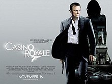Casino Royale The Poster Shows Daniel Craig As James Bond Wearing A Business Suit With A Loose
