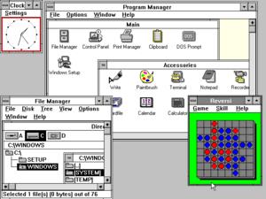 Windows 3.0, released in 1990