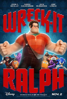 Theatrical release poster depicting the protagonist, Ralph, along with various video-game characters