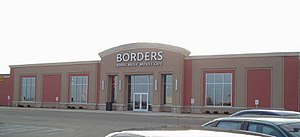 The Borders book store at the mall.