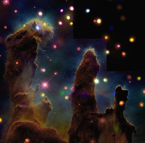 The Eagle Nebula M16 Peering Into the Pillars ...