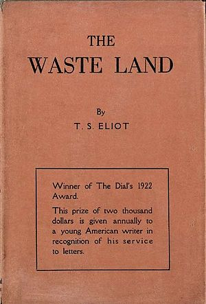 First American edition of T.S. Eliot's The Was...