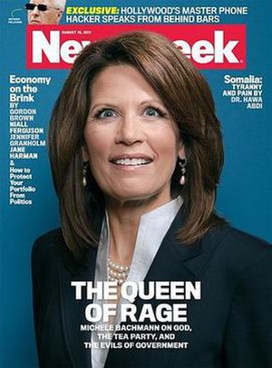 A controversial Newsweek cover with Bachmann, ...