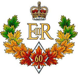 The official emblem of the Queen of Canada's D...