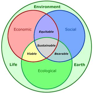 Human Sustainability Confluence Diagram