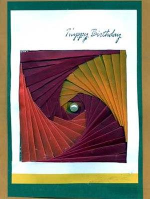 Birthday Card made with Iris Folding