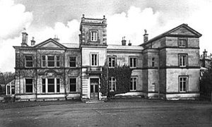 Front view of Darlaston Hall near Stone, Staff...