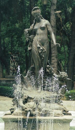 ''Fountain of Aphrodite in Mexico City.