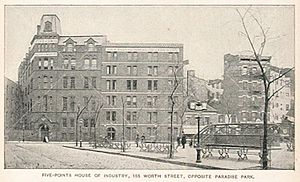Five Points House of Industry in 1893 on Worth...
