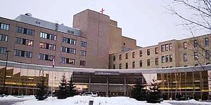 The main entrance of St. Boniface General Hosp...