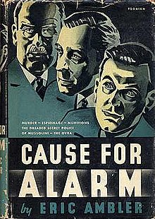 Cover of the first US edition of Cause For Alarm