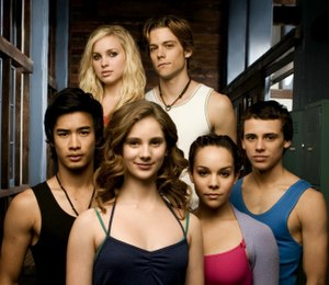 The six main characters from Dance Academy