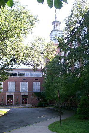 Wellesley High School in 2009 before demolition