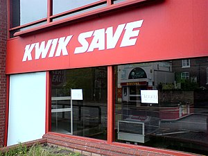 Closed branch of Kwik Save in Warrington, 13 J...