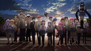 The characters of Angel Beats! (from left to r...