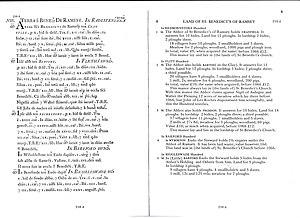 The Barton Domesday Book entry in Latin and En...
