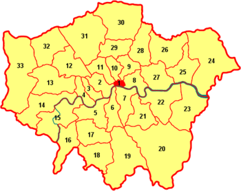 London boroughs map