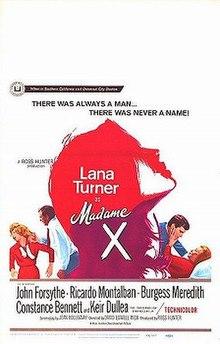 Madame X 1966 film  Wikipedia