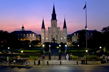 St. Louis Cathedral at Night