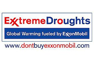 Parody of ExxonMobil logo designed by St Leger...