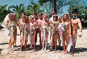 Hedonism III's world's largest nude wedding in...