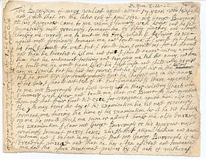 Deposition of Mary Walcott, August 3, 1692