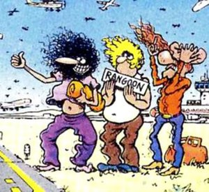 The Fabulous Furry Freak Brothers, from left t...