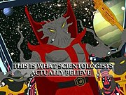 Xenu as depicted in South Park.
