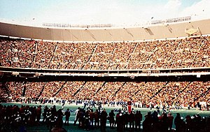 Veterans Stadium during the 1980 NFC Champions...