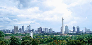 Jakarta panoramic view around Medan Merdeka (M...