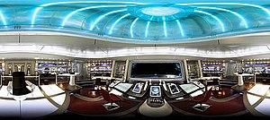 Panorama of the Enterprise s redesigned bridge