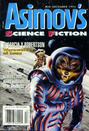 Cover for an issue of Asimov's Science Fiction.