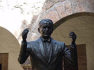 Statue of Miguel Bernal Jiménez at the Conserv...