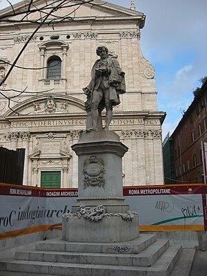 Statue of Metastasio in Rome, Piazza della Chi...