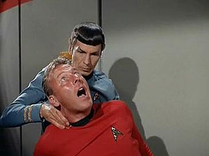 Spock using the Vulcan nerve pinch on a doomed...