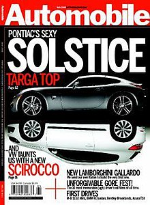 The June 2008 cover of Automobile.