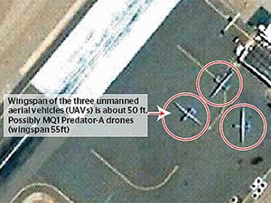 Satellite image of Shamsi puports to show thre...