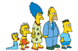 The Simpson family as they first appeared in T...
