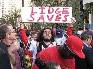 Phillies fan on October 31, 2008 at World Seri...