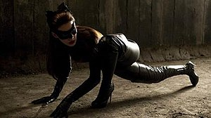 Anne Hathaway as Catwoman in The Dark Knight R...