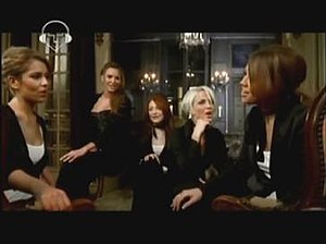 "Girls Aloud in the music video for ""Whole..."