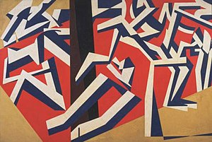 The Mud Bath (1914) by David Bomberg, one of t...
