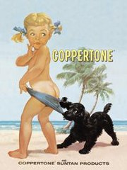 Original Coppertone ad.