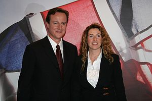 Rowena Holland with Conservative Party leader ...