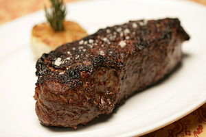 The signature New York Strip Steak