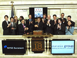 Eurasia Group ringing opening bell @ NYSE